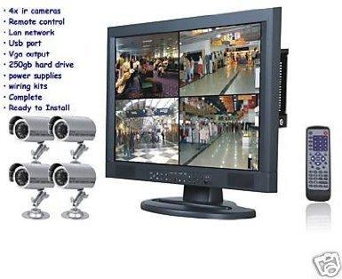 Affordable J2C-NEW 4 IR CAMERAS 250GB DVR 15