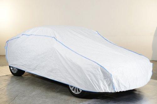 Kley & Partner Autoabdeckung Vollgarage Ganzgarage atmungsaktiv extrem leicht kompatibel mit Volkswagen VW New Beetle Cabrio ab 2012 in weiß exklusiv in Tyvek