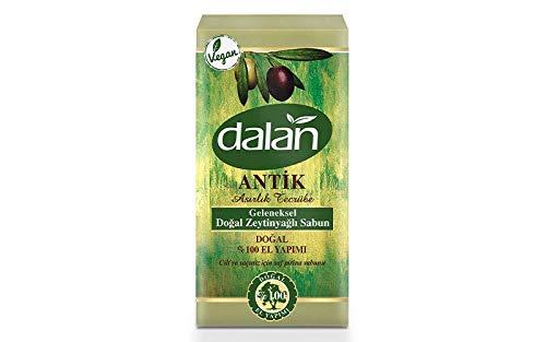 Dalan Savon bio à l'huile d'olive à l'huile de mélisse citronnelle, huile d'eau, vert, normal, 5