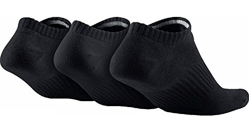 Nike Lightweight No-Show, Calcetines, Hombre, Negro, 38-42, Pack de 3