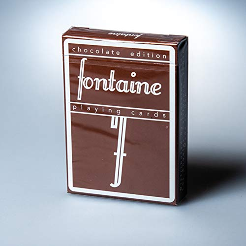 Fontaine (Limited Edition Chocolate Edition Playing Cards Deck by Zach Mueller & Clear Protective Playing Cards Case