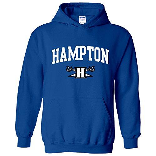 AH03 - Hampton Pirates Arch Logo Hoodie - Large - Royal