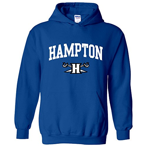 AH03 - Hampton Pirates Arch Logo Hoodie - Large - Royal