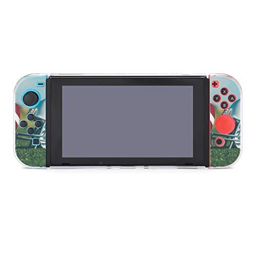 Schutzhülle für Nintendo Switch, kratzfest, PC, kompatibel mit Switch und Joy-Con-Controllern, 5-teilig, schmal, für Rugby, American Football, Fitnessstudio, weißer Helm