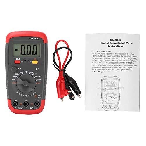 LetCart Kondensatortester Induktivitätsmesser Tester Digitaler Kapazitätsmesser UA6013L Professioneller digitaler LCD-Handkapazitätsmesser