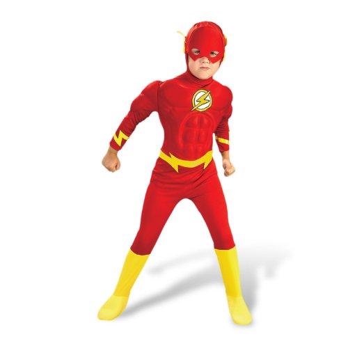 Superheld Kinderkostüm Flash Helden Kostüm Kinder M 5-6 Jahre Blitz Fasching Karneval Outfit Verkleidung