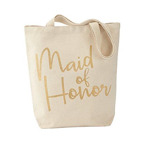 Mud Pie Canvas Bridal Party Tote Bag, Maid