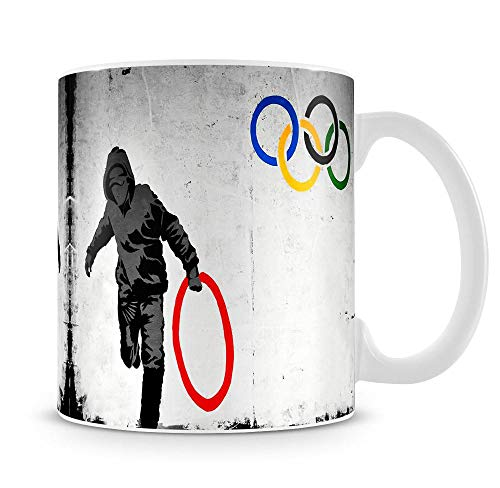 Banksy Olympic Rings Looter Mug