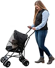Pet Gear Travel Lite Pet Stroller for Cats and Dogs up to 15-pounds, Jet Black