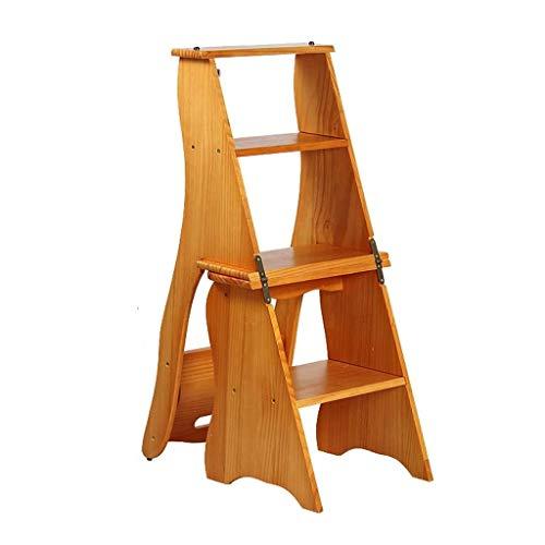 Klappstufen Klappleiter Regal Bibliothek Stuhl 4-Step Hocker for Erwachsene Faltbare Stühle Hocker Anzeigen-Regal for Badewannenständer Mehrzweckleitern