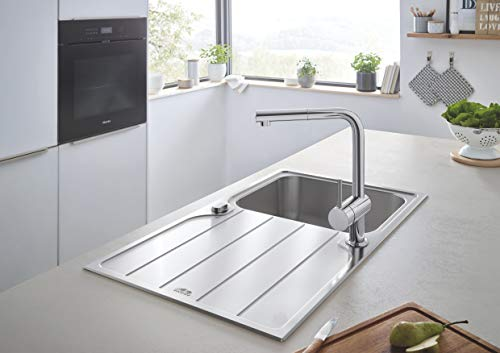 Grohe – Minta Küchenarmatur mit herausziehbarem Auslauf, L-Size, Chrom - 10
