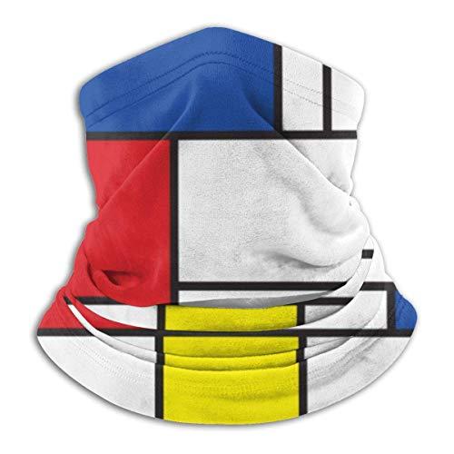 jhgfd7523 Mondrian Minimalist De Stijl Moderno Arte Protector Mascarilla Magia Bufanda Al Aire Libre BandaFace Shield Multifuncional Headwear Resistente al Viento Cuello Polaina Protección UV