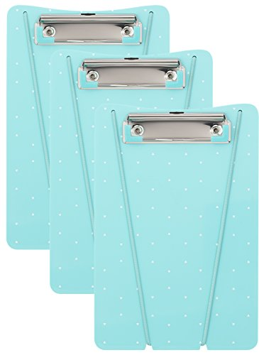 HOM Essence Memo Size, 5.75' x 8', w Bungee Cord Ultimate Clipboard, Mint, 3 Pack, 5 Piece