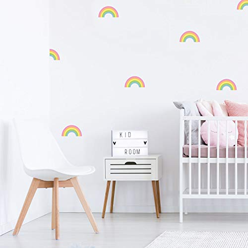 Stickerscape Regenbogen-Stickaround Wandtattoo | Einhorn Wandsticker | Kinderzimmer Dekor