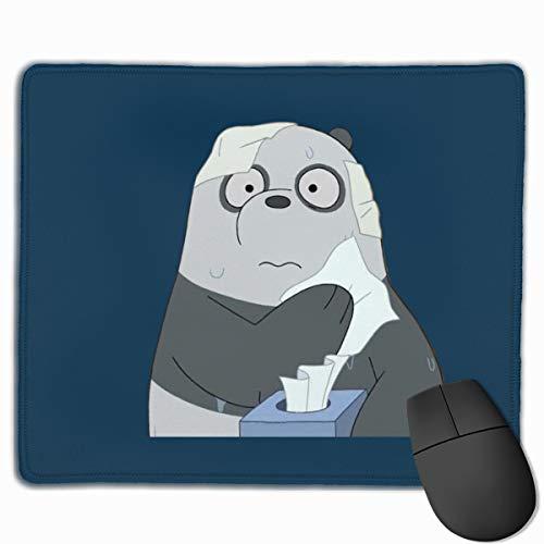 GanCheng We Bare Bears Panda Polyester Non-Slip Mousepad for Office