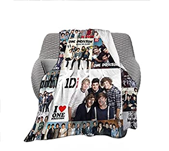 One-Direction Throw Blanket  Soft Lightweight Decorative Fleece Blankets for Sofa Bedroom Living Room - All Seasons Suitable for Women Men 50x40 Inch