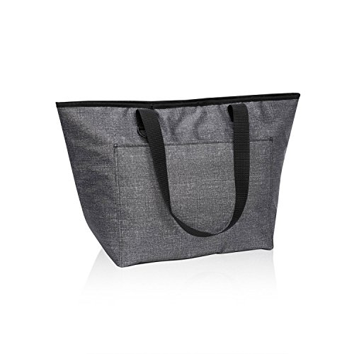 Thirty One Tote-Ally Thermal in Charcoal Crosshatch - No Monogram - 8257