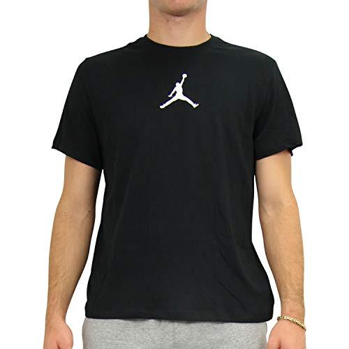 Nike Herren T-Shirt M J Jumpman DFCT SS Crew, Black/White, S, BQ6740