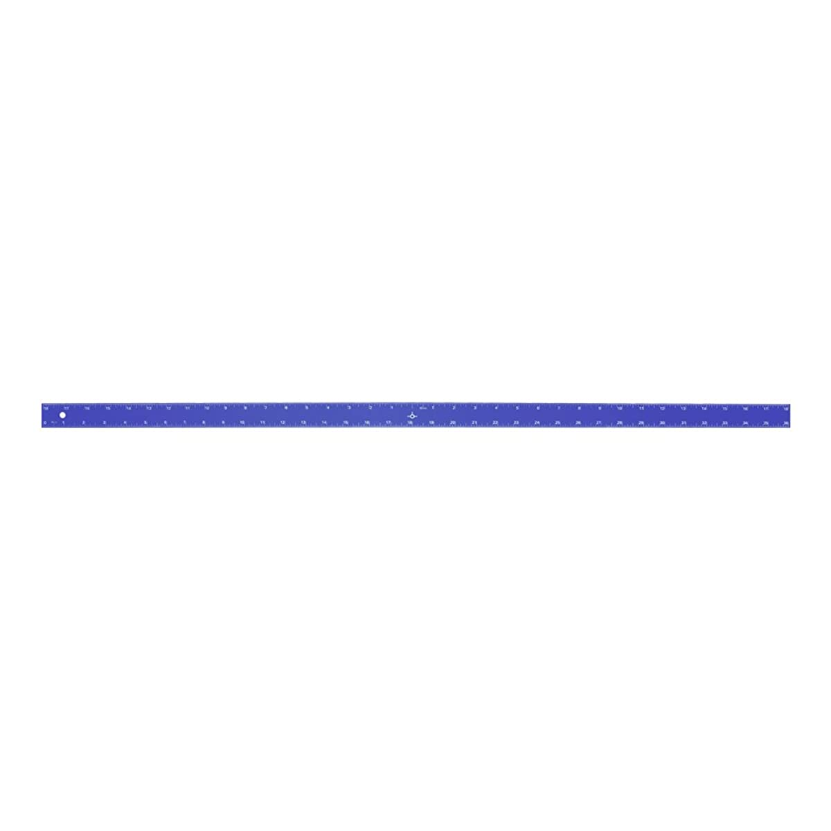 Alumicolor 1596-5 Aluminum Straight Edge with Center Finding Back, 36IN, Blue