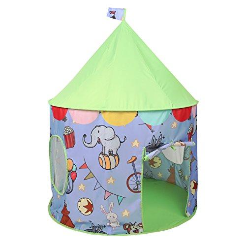 XinQing-Tente Tente de Jeu pour Enfants intérieur et extérieur décoration Maison de Jeu Maison de Jouet Pliante (39,4 * 39,4 * 51,2 Pouces Emballage de 1) (Color : Green)