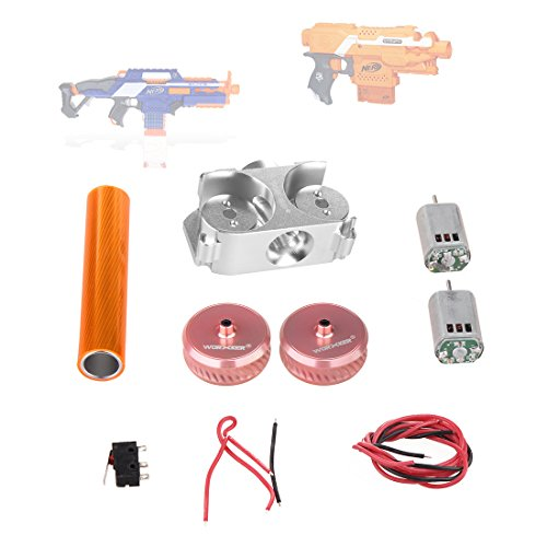 15000P Worker Tuning Set Twill Metall Schwungrad und Flywheel Käfig 132 Motor für Nerf N-Strike Elite Stryfe/Nerf N-Strike Elite Rapidstrike CS-18 -- Power Type
