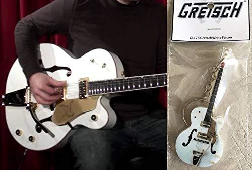 Schlüsselanhänger Gitarre Gretsch White Falcon