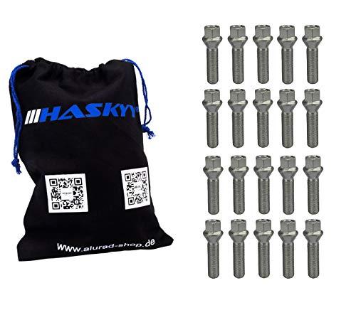 20 Radschrauben Radbolzen M14x1,5 Schaftlänge: 28 Kegel 60° Kegelbund SW17