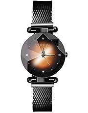 AKONI 腕時計 レディース 女性用 時計 磁気メッシュバンド キラキラ クリスタル 星空 おしゃれ ファッション クォーツ アナログ時計