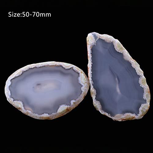 Kcibyvx Natürlicher Achat poliert unregelmäßige Kristallscheibe Stein DIY Anhänger Mineral Home Decoration
