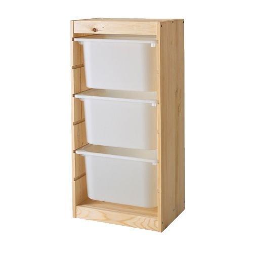 ★トロファスト / TROFAST 収納コンビネーション / ホワイト / パイン材[イケア]IKEA(S39873001)