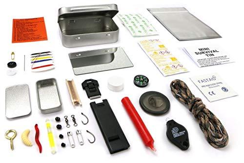 Be-Creative - Mini Lata de Supervivencia al Aire Libre, Kit de Emergencia Militar
