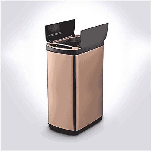 ZCJUX Inicio Smart Basura PUEDE LA PUEBLA DE INDUCCIÓN AUTOMÁTICA PUEDE CON LA TAPA USB PUBLICACIÓN DE LA PUBLICACIÓN DE LA PUBLAR PUBLAR PUBLICADA 20 / 30L alimentada por las baterías (Batería no inc