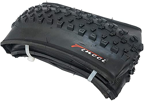 Fincci Pair 27.5 x 2.10 Inch 54-584 Foldable Tyres for Road Mountain MTB Mud Dirt Offroad Bike Bicycle (Pack of 2)