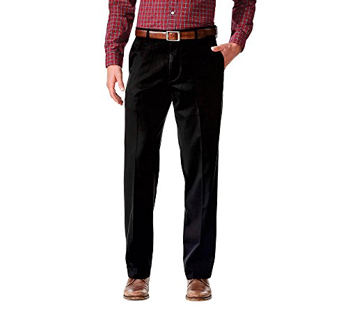 Dockers Men's Relaxed Fit Comfort Khaki Pants, Black Metal, 34W x 32L