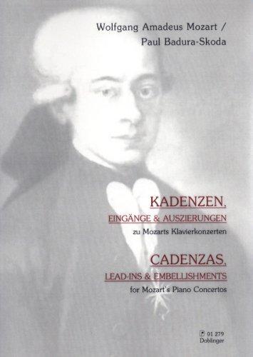 """""""Kadenzen"""" Eingänge & Auszierungen zu Mozarts Klavierkonzerten, Ausgabe für Klavier von Paul Badura-Skoda"""
