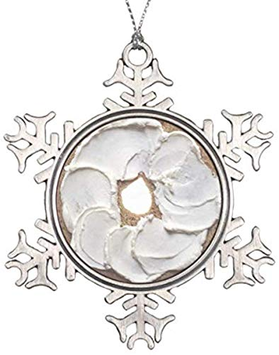 JamirtyRoy1 3' Snowflake Ornament, Christmas Ornament, Decorations Personalized Ornament Bagel With Cream Cheese Snowflake Pewter Christmas Ornament Keepsake Gift, Christmas Decor