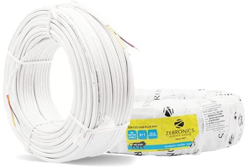 ZEBRONICS ZEB-C3C1XAB-PLUS-90M ZEBRONICS CCTV Cable, White, 10 * 10 * 5.10
