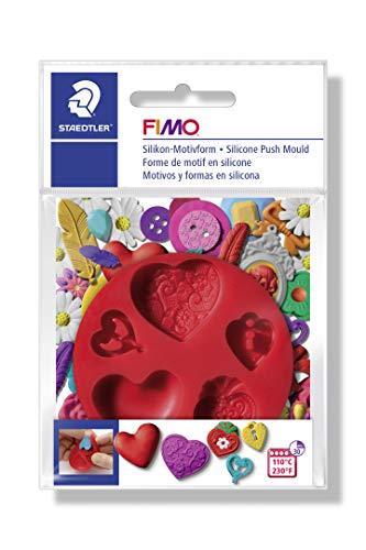 """Fimo Accessoires - Moule Flexible En Silicone Motif """"Coeurs"""" Ø 7 Cm"""