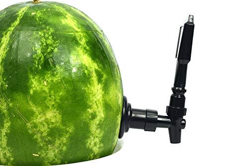 KeggerMelon Watermelon Keg Tapping Kit Spigot Instant Keg Silver Black with Bonus Drilling Tool Made...