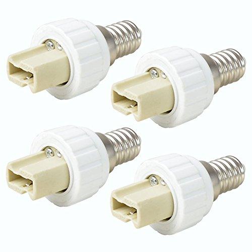 4X MENGS® Qualität E14 auf G9 Lampenfassung Konverter Adapter Mit Hohe Temperaturbeständigkeit Keramik Material - Extender / Halter