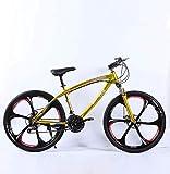 ZGYQGOO Adulti Mountain Bike, Giovanile Città degli Studenti Road Racing Bike, Doppio Freno a Disco Mens Mountain Bike, 26 Pollici rotelle di Bicicletta