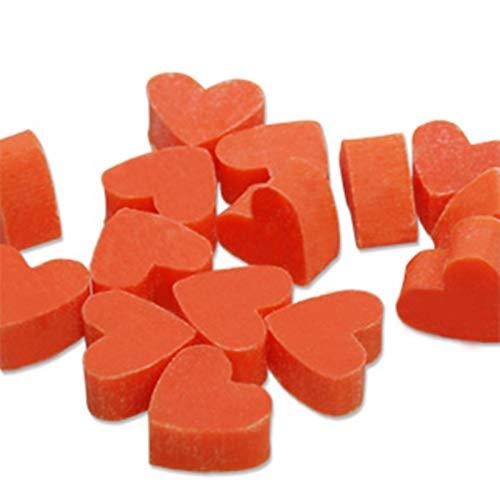 Savon coeurs mini mini - Savon au lait de brebis Florex SANG ORANGE - 50 pièces - faveur de mariage