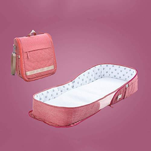 ZHANGXJ Portátil Nuevo Cama de Viaje Cómodo Portátil Nido de Bebé Recién Nacido Reductor Protector de Cuna Nest Multifuncional Capullo para 0-18 Meses Bebé Respirable (Color : Red)