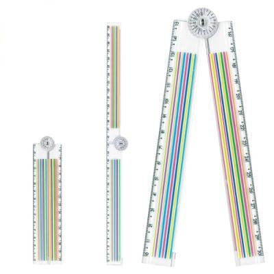 共栄プラスチック テキスタイルおりたたみ定規 ボーダー TR−30−01