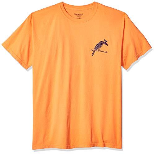 Margaritaville Men's Toucan Bill Graphic Short Sleeve T-Shirt, Burnt Orange, Small