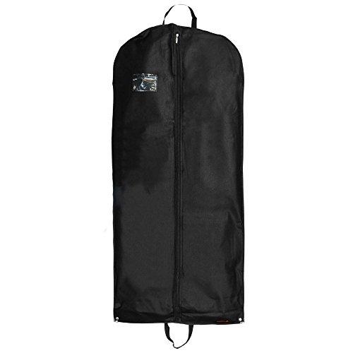 Hangerworld, Custodie per abiti con maniglie per trasporto e bottoni a pressione, 3 pz., ca. 137 cm, Nero