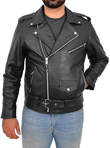 Men's Biker Rider Motorcycle Elegant Motorbike Genuine Retro Cowh 2021 Rocker