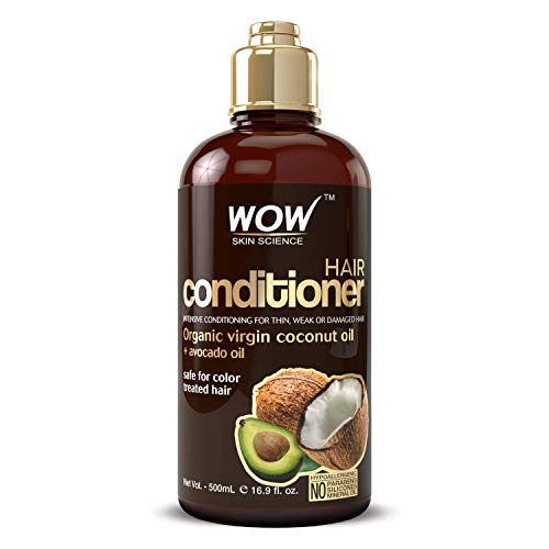 WOW Hair Conditioner - Coconut & Avocado Oil - Restore Dry, Damaged Hair - Increase Gloss - Reduce Split Ends, Frizz - Sulfate, Silicones, Paraben Free - All Hair Types, Adults & Children - 500 mL