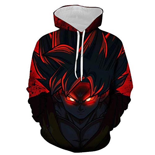 cyxb Sueltos Sudadera con Estampado,3D Printed Hooded Sweatshirts Anime Cosplay Super Saiyan Goku Polluver Men Women Casual Cool Hoodies-2_XXL