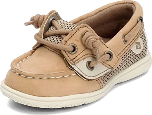 Sperry baby girls Shoresider Jr Crib Shoe, Linen/Oat, 5 Little Kid US